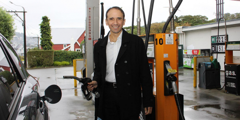 MTA Chief Executive Craig Pomare in a service station